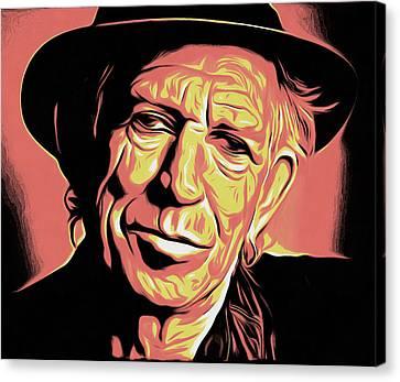 Keith Richards Canvas Print by Galeria Zullian  Trompiz