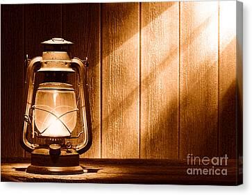Kerosene Lantern - Sepia Canvas Print