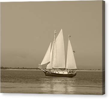 Ketch - Nantucket Harbor Canvas Print
