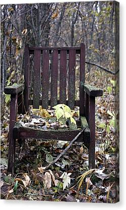 Canvas Print featuring the photograph Keven's Chair by Pat Purdy