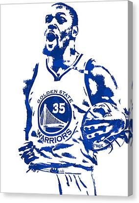 Nba Canvas Print - Kevin Durant Golden State Warriors Pixel Art 4 by Joe Hamilton