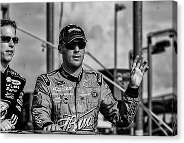 Kevin Harvick Canvas Print by Kevin Cable