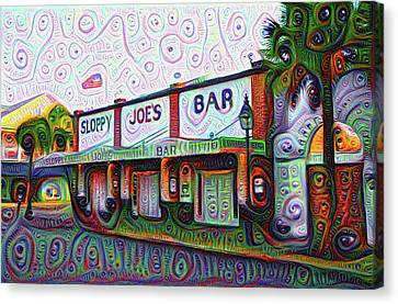 Key West Florida Sloppy Joes Bar Canvas Print by Bill Cannon