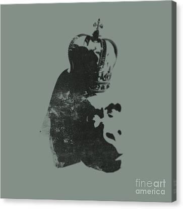 King Ape Canvas Print by Pixel Chimp