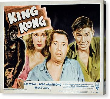 King Kong, Fay Wray, Robert Armstrong Canvas Print by Everett