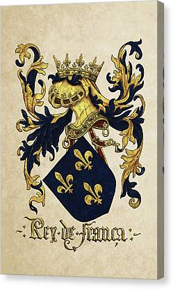 King Of France Coat Of Arms - Livro Do Armeiro-mor  Canvas Print by Serge Averbukh