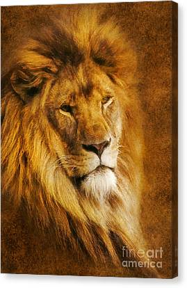 Canvas Print featuring the digital art King Of The Beasts by Ian Mitchell