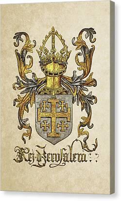 Kingdom Of Jerusalem Coat Of Arms - Livro Do Armeiro-mor Canvas Print by Serge Averbukh