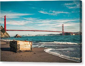 Canvas Print featuring the photograph Kirby Cove Treasure by Kim Wilson