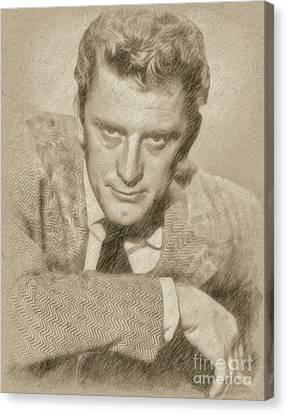 Kirk Douglas Hollywood Actor Canvas Print by Frank Falcon