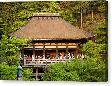Architecture Canvas Print - Kiyomizudera Temple by Sebastian Musial