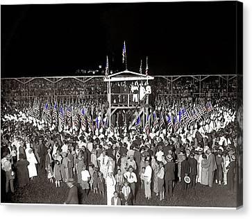 Kkk Services Capital Horse Show Grounds National Photo Co. Arlington Virginia August 9 1925-2014 Canvas Print