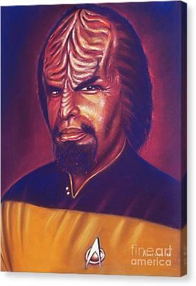 Deep Space Canvas Print - Klingon Star Trek by Anastasis  Anastasi