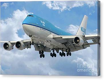 Klm Canvas Print - Klm Boeing 747 by J Biggadike