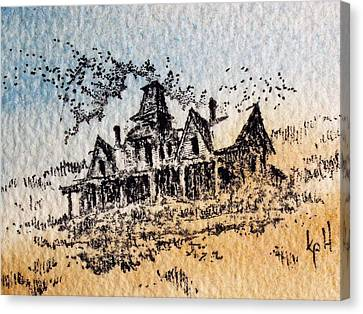 Knippenberg Mansion Glendale Ghost Town Montana Canvas Print by Kevin Heaney
