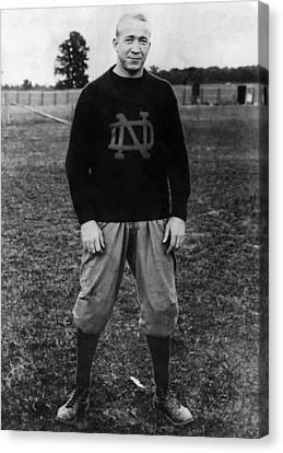 Knute Rockne, University Of Notre Dame Canvas Print by Everett