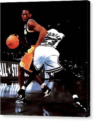 Kobe Spin Move Canvas Print