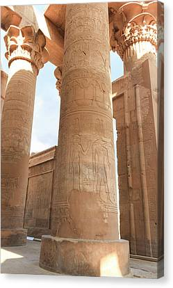 Canvas Print featuring the photograph Kom Ombo Temple by Silvia Bruno
