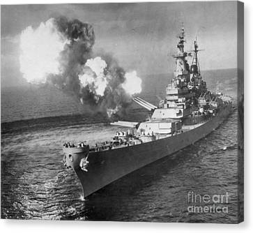 Navy Canvas Print - Korean War, 1950 by Granger