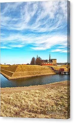 Canvas Print featuring the photograph Kronborg Castle In Helsingor by Antony McAulay