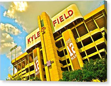 Conference Canvas Print - Kyle Field Aggieland by Chuck Taylor