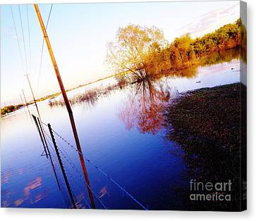 Kyle Texas Flooding October 30, 2015 Canvas Print by Chuck Taylor