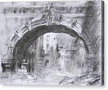 L-arco Di Via Tagliamento Rome Canvas Print by Ylli Haruni