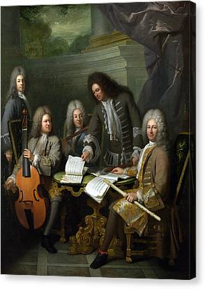 La Barre And Other Musicians Canvas Print