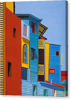 La Boca Street Scene Three Canvas Print