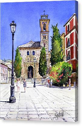 La Iglesia De Santa Ana Granada Canvas Print
