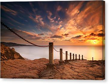 La Jolla Art Canvas Print - La Jolla Sunset 2 by Larry Marshall