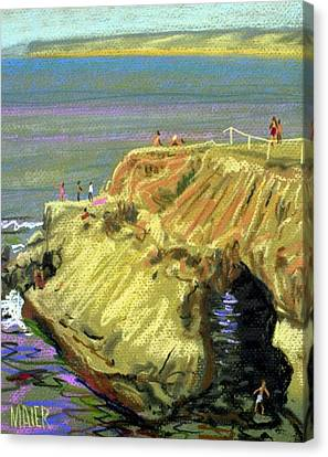 La Jolla Swimmers  Canvas Print by Donald Maier