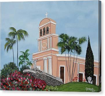 La Monserrate Canvas Print by Gloria E Barreto-Rodriguez