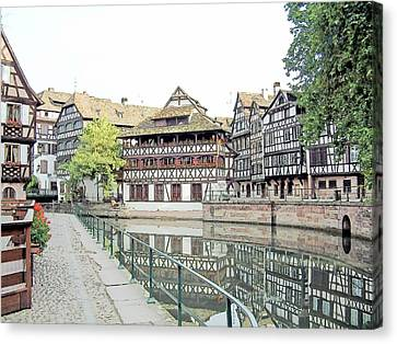 La Petite France Strasbourg France Color Pencil Canvas Print by Joseph Hendrix