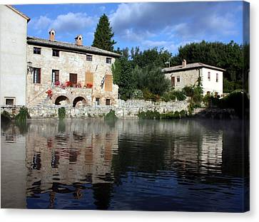 Canvas Print featuring the photograph La Terme by Pat Purdy