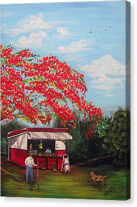 La Tiendita Canvas Print by Gloria E Barreto-Rodriguez
