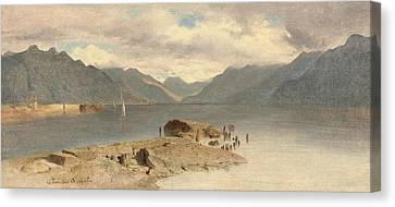 La Tour Lake Geneva Canvas Print by MotionAge Designs