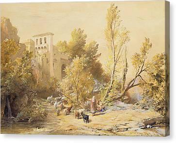 La Vocatella Canvas Print by Samuel Palmer