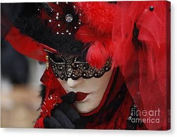 Lady In Red Canvas Print by Wilko Van de Kamp