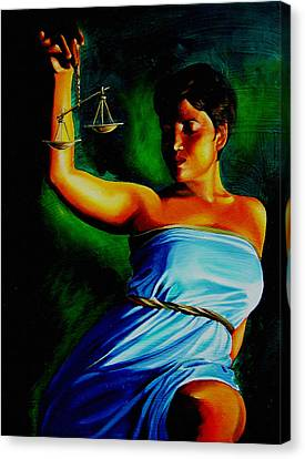 Lady Justice Canvas Print by Laura Pierre-Louis