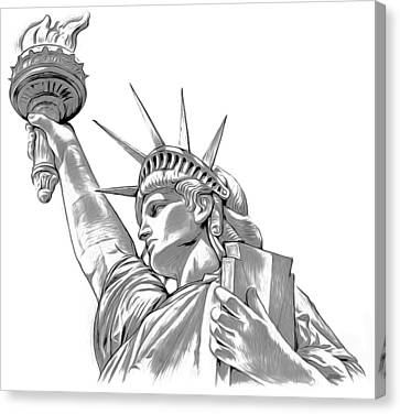 Lady Liberty Canvas Print by Greg Joens