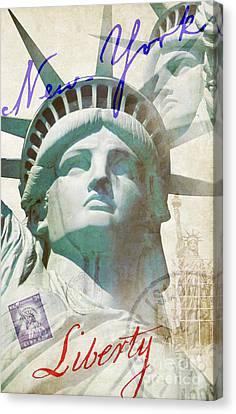 Nyc Canvas Print - Lady Liberty by Jon Neidert