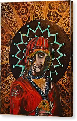 Lady Of Spades Canvas Print