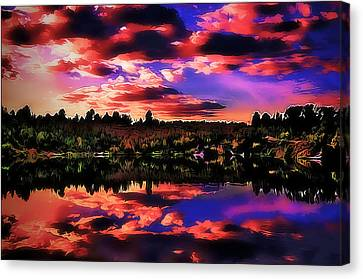 Abstact Landscapes Canvas Print - Lake by Alexey Bazhan