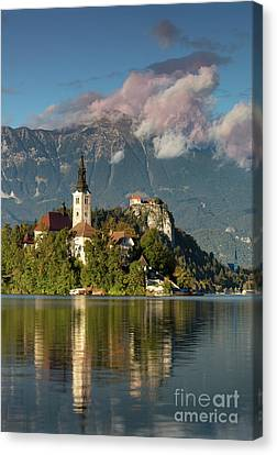 Canvas Print featuring the photograph Lake Bled by Brian Jannsen