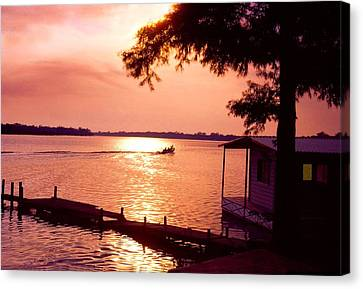 Lake Chicot Sunset Canvas Print by John Foote
