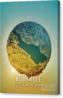 Lake Constance 3d Little Planet 360-degree Sphere Panorama Canvas Print by Frank Ramspott