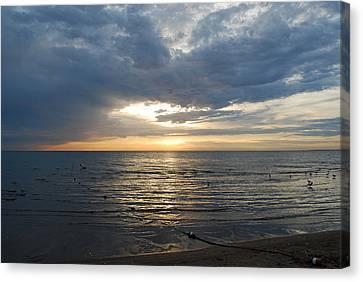 Lake Erie Sunrise Canvas Print by Peter  McIntosh