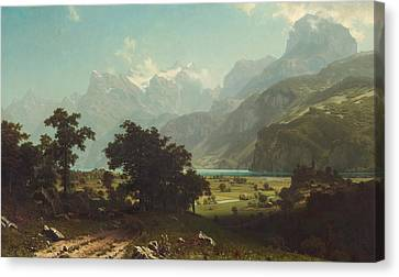Lake  Lucerne Canvas Print by Celestial Images