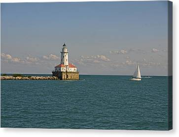 Lake Michigan Lighthouse Canvas Print